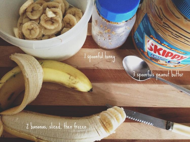 Peanut Butter & Honey Banana Ice Cream | Little Fictions.